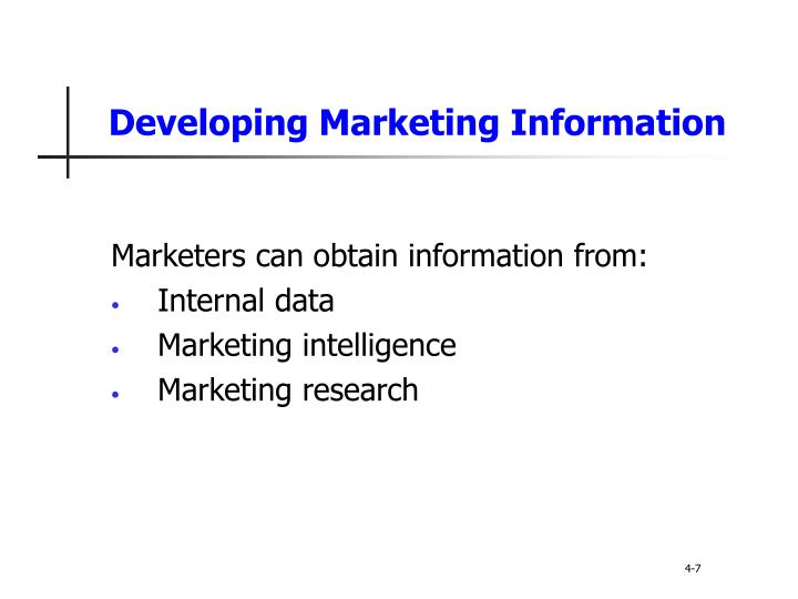 Developing Marketing Information