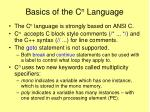 basics of the c n language