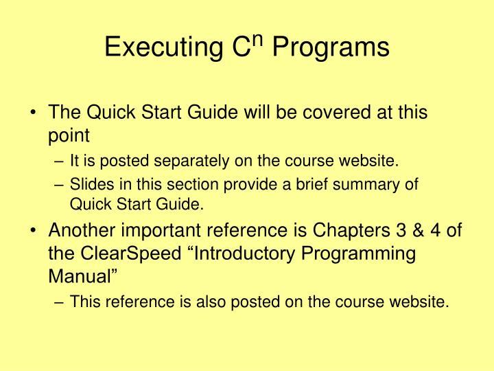Executing C
