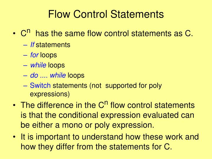 Flow Control Statements