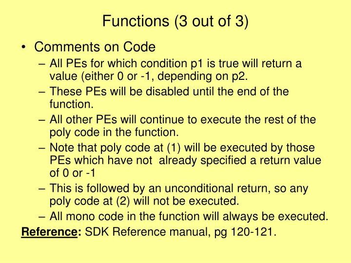 Functions (3 out of 3)