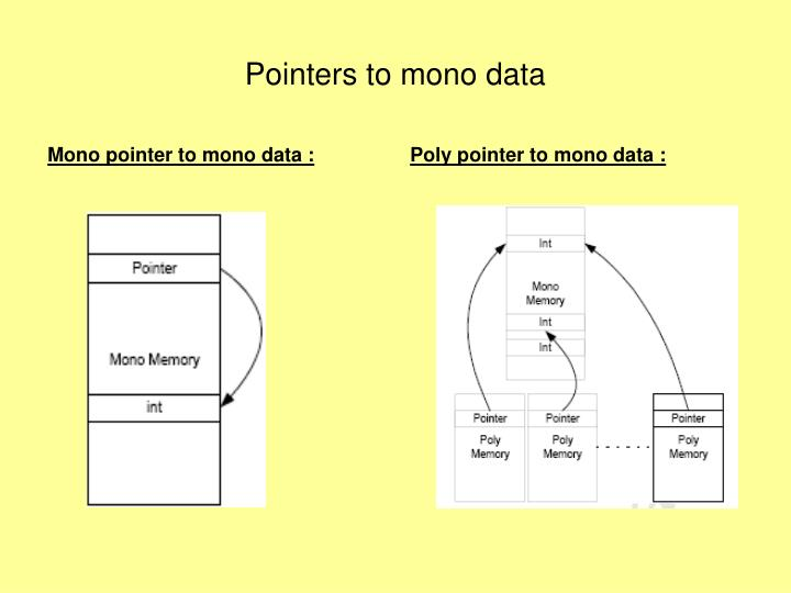 Mono pointer to mono data :