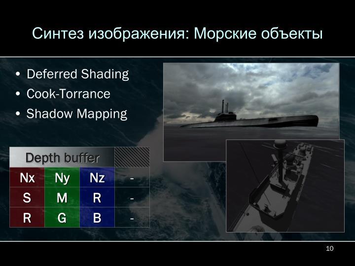 Синтез изображения: Морские объекты