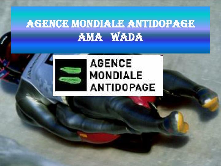 Agence mondiale antidopage