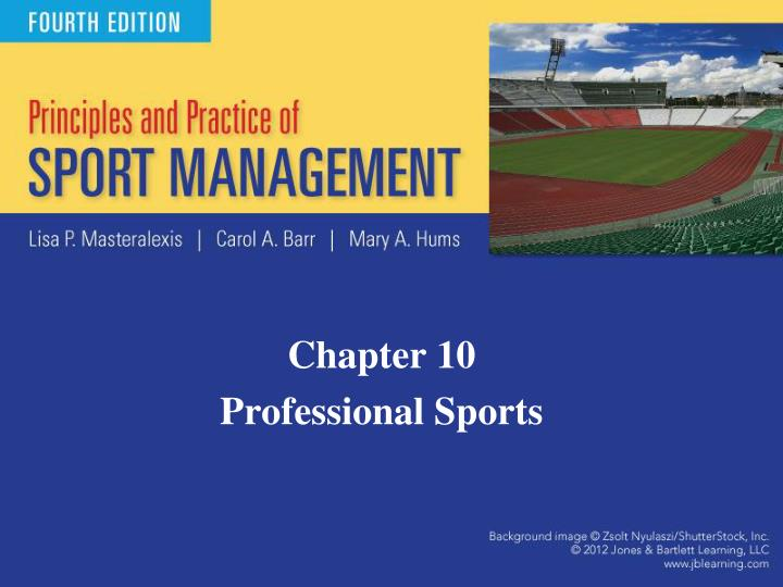Chapter 10 professional sports