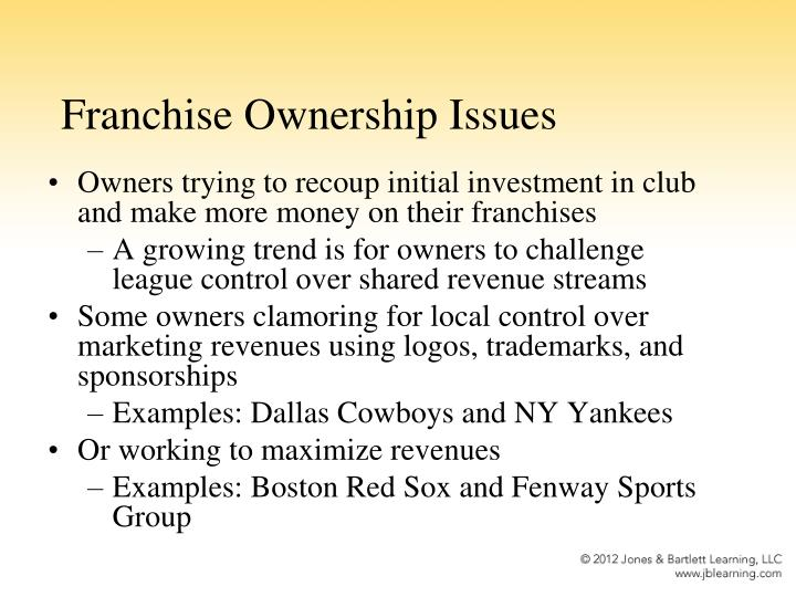 Franchise Ownership Issues