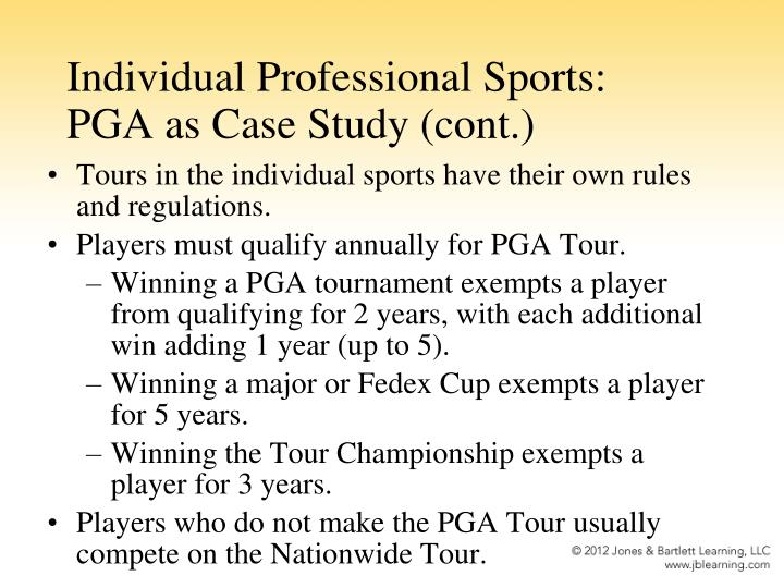 Individual Professional Sports: