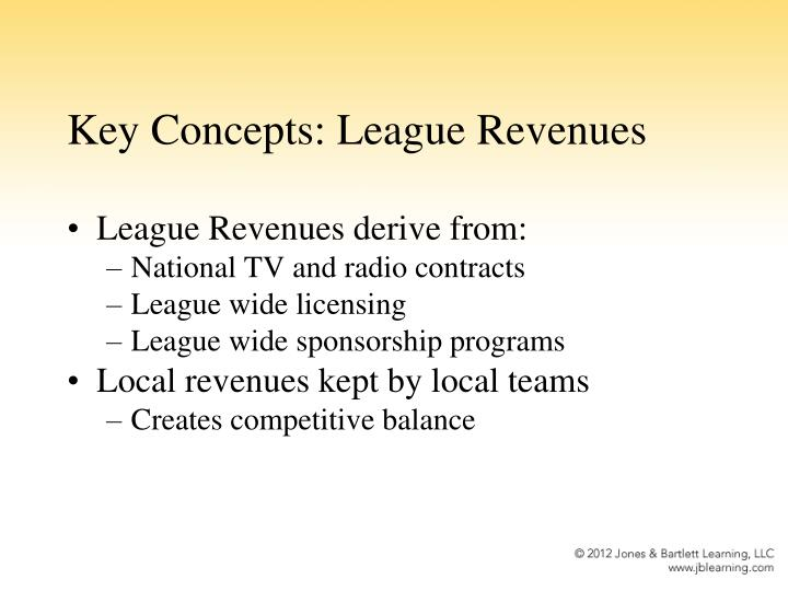 Key Concepts: League Revenues