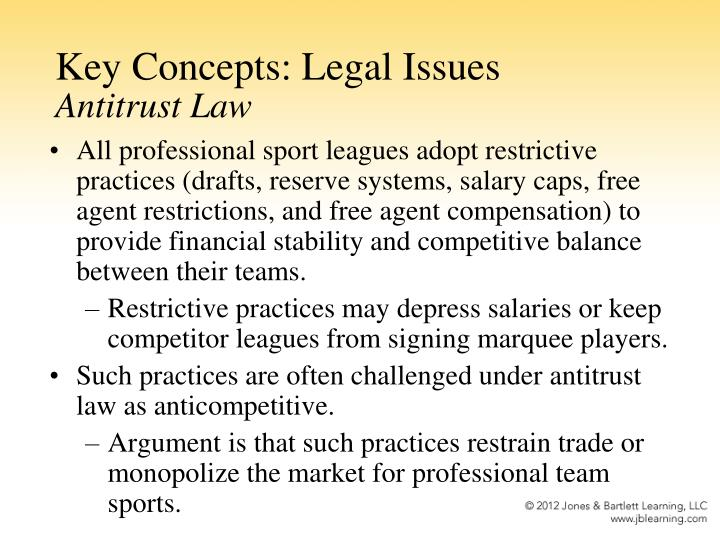 Key Concepts: Legal Issues