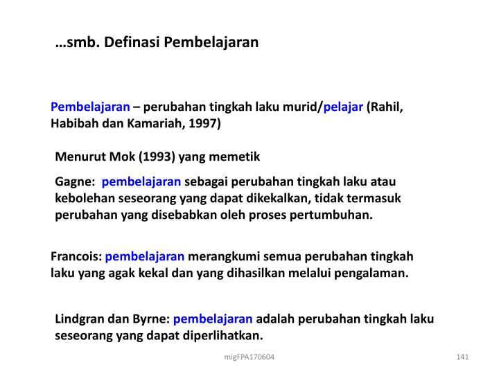 …smb. Definasi Pembelajaran