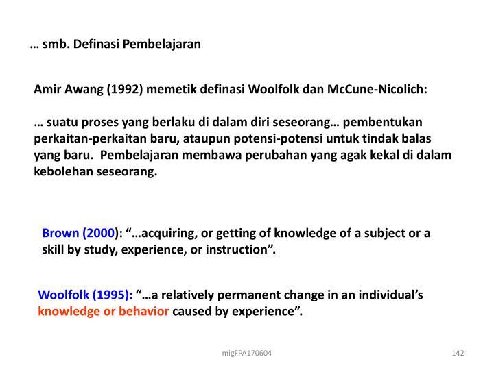 … smb. Definasi Pembelajaran