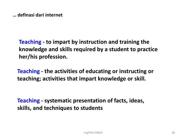 … definasi dari internet