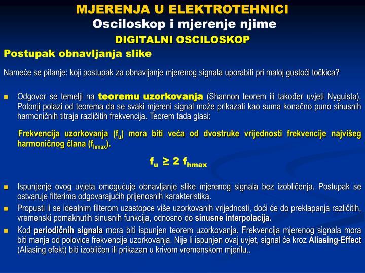 MJERENJA U ELEKTROTEHNICI