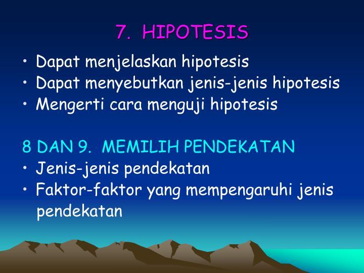 7.  HIPOTESIS