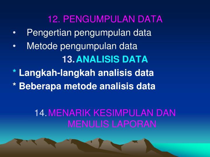 12. PENGUMPULAN DATA