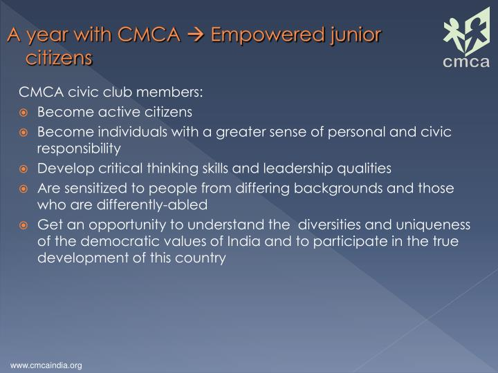A year with CMCA
