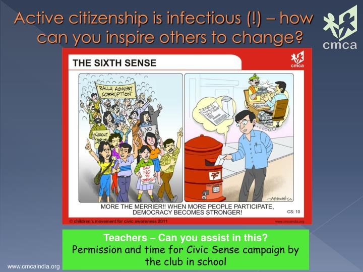 Active citizenship is infectious (!) – how can you inspire others to change?