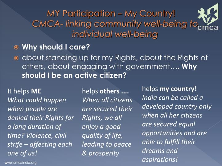 MY Participation – My Country!