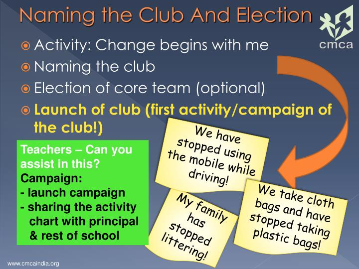 Naming the Club And Election