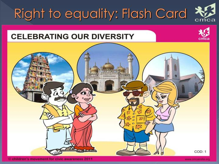 Right to equality: Flash Card
