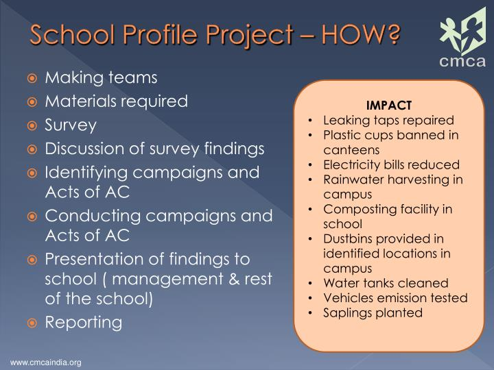 School Profile Project – HOW?