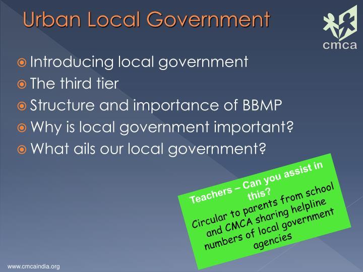 Urban Local Government