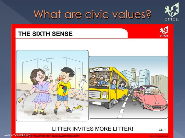What are civic values?