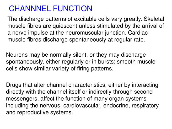 CHANNNEL FUNCTION