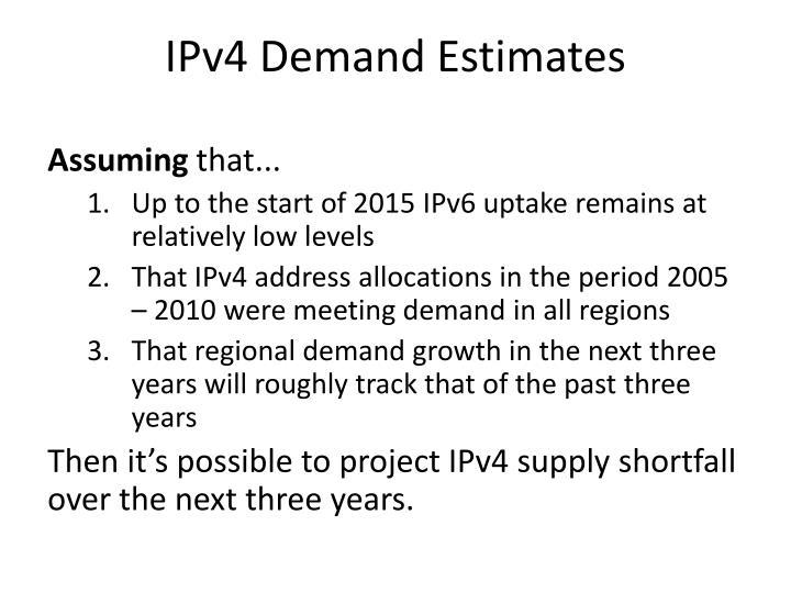 IPv4 Demand Estimates