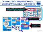 aster csci component role in standing order acquire submission