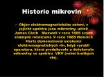 historie mikrovln