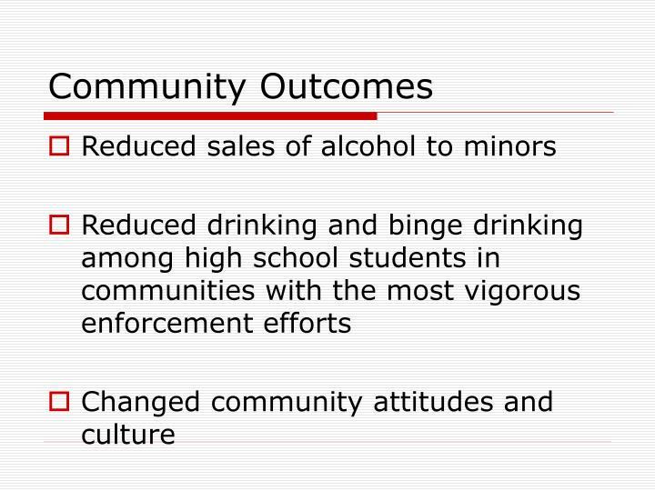 Community Outcomes