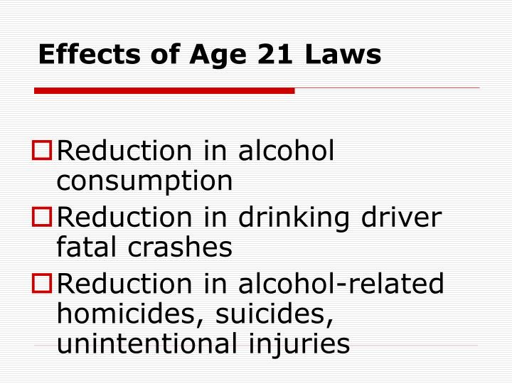 Effects of age 21 laws