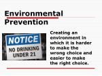 environmental prevention