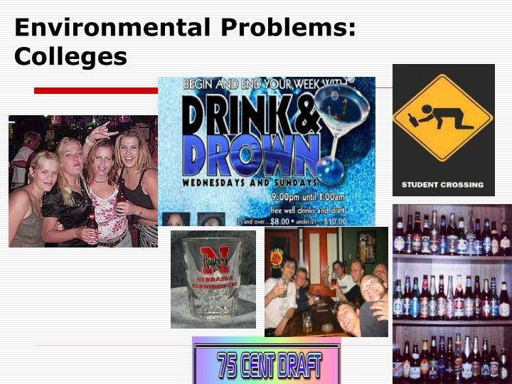 Environmental Problems: Colleges