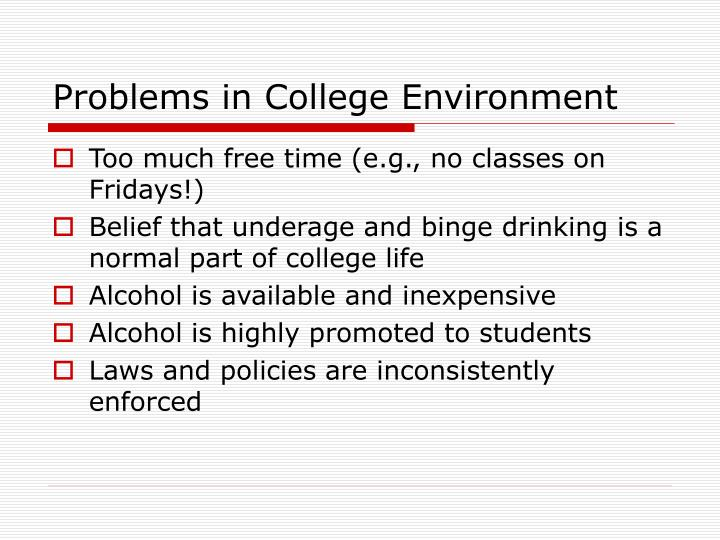 Problems in College Environment