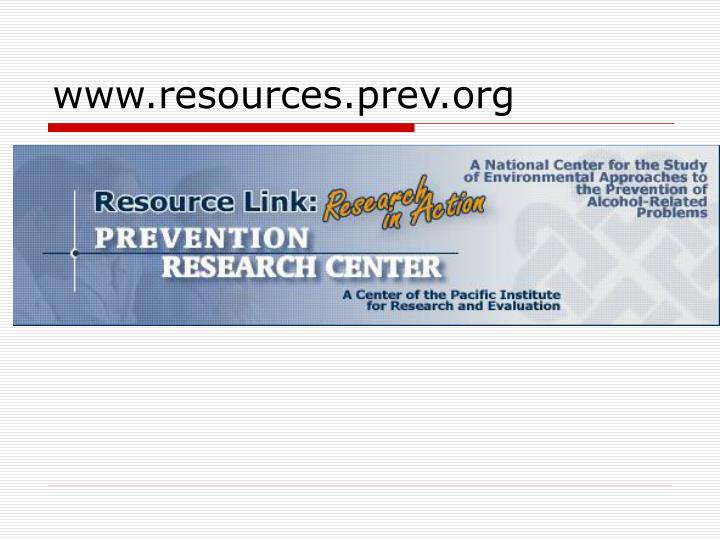 www.resources.prev.org