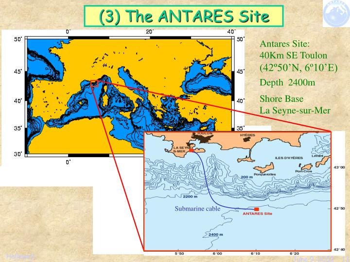 (3) The ANTARES Site