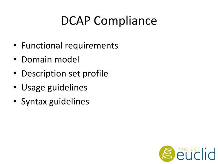 DCAP Compliance