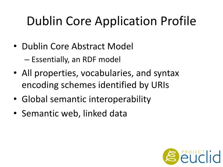 Dublin Core Application Profile