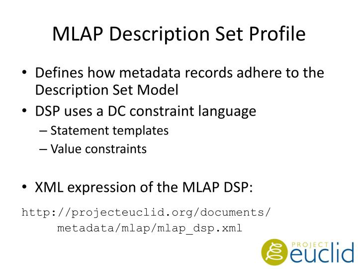 MLAP Description Set Profile