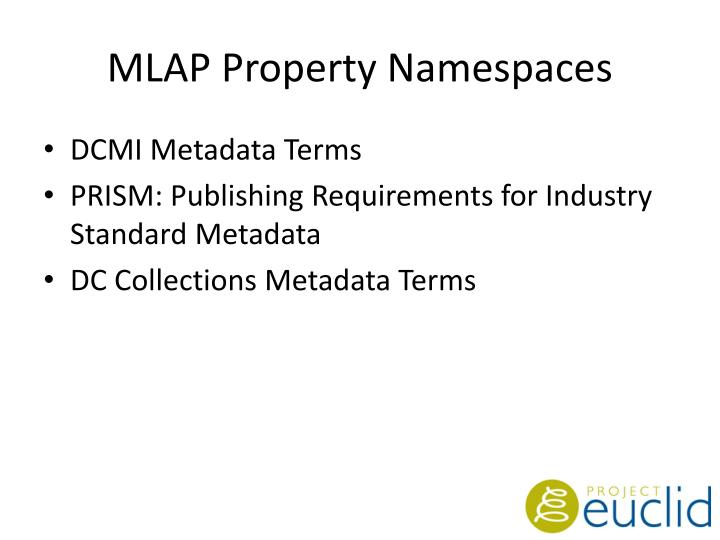 MLAP Property Namespaces