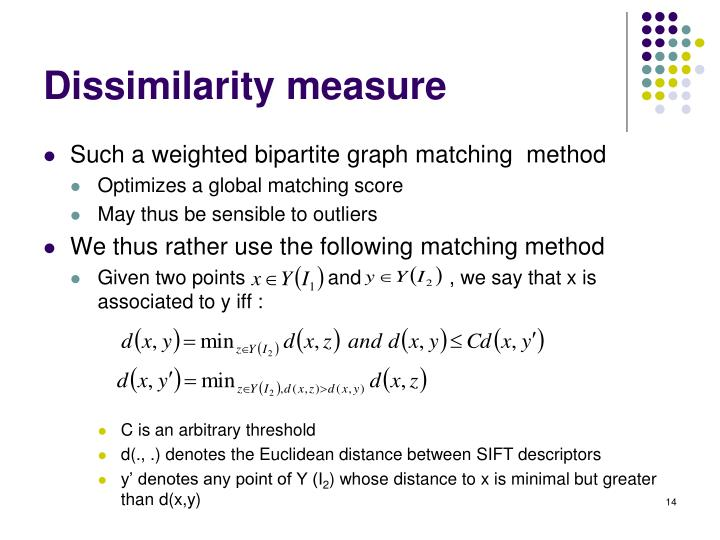 Dissimilarity measure