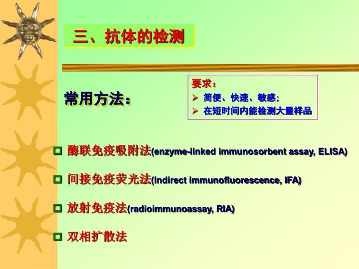 三、抗体的检测