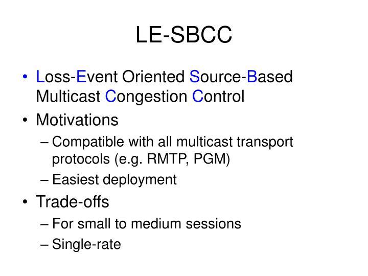 LE-SBCC