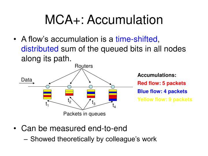 MCA+: Accumulation