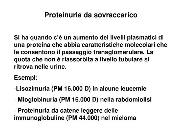 Proteinuria da sovraccarico