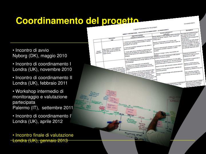 Coordinamento del progetto