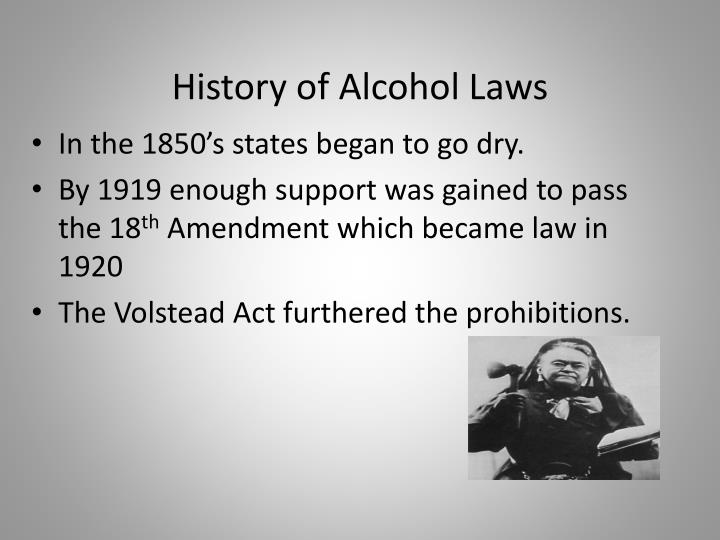 an overview of the 18th amendment and the prohibition the ignoble experiment Before the era of prohibition (which took effect about the time the 19th amendment gave women the right to vote in 1920), saloons were largely a men only affair speakeasies, on the other hand.