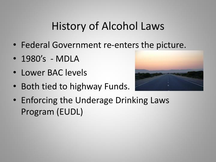 History of Alcohol Laws